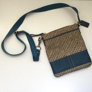 COACH Crossbody Messenger Bag Signature & Blue